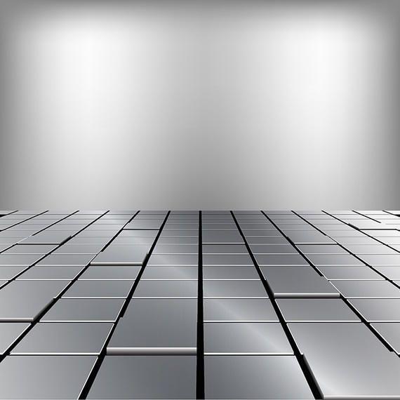 Ilustración de suelo metálico.