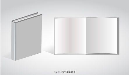 Weiße Vektor Buch