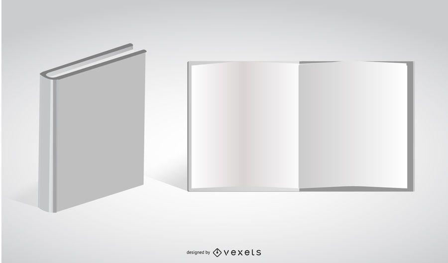 White Vector Book