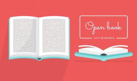 Livro aberto de vetor
