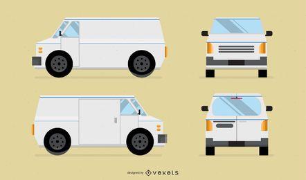Vetor branco Van