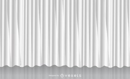 Weißer Vektor Vorhang