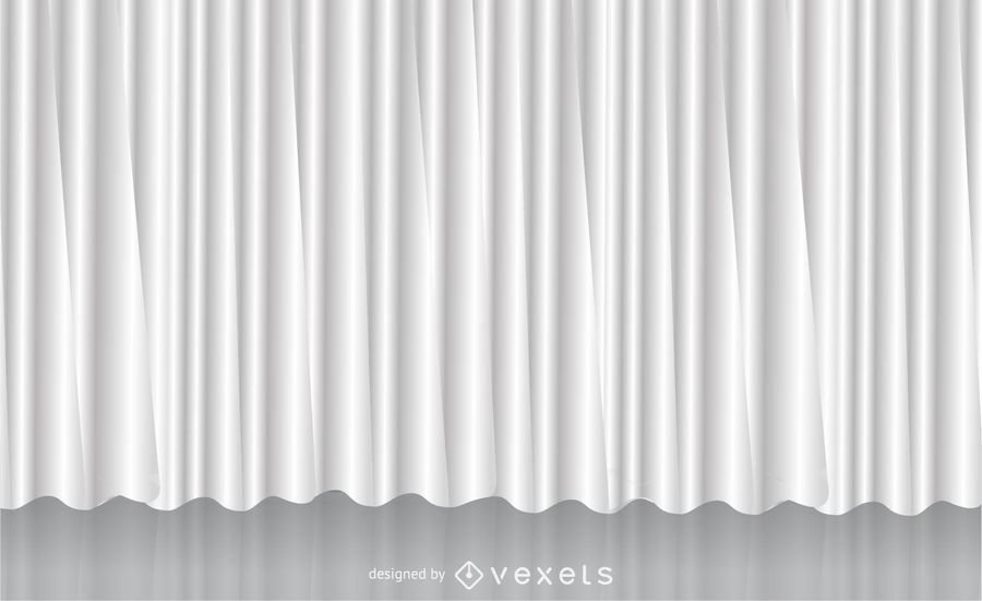 White Vector Curtain