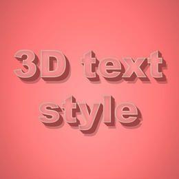 Estilo de texto 3D