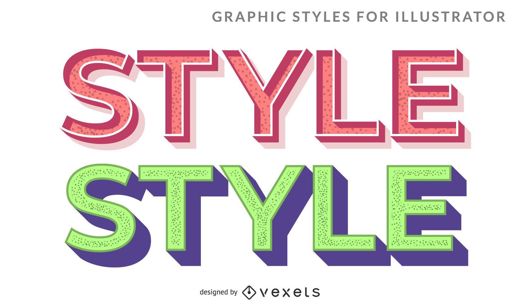 Vector de letras de estilo 3D