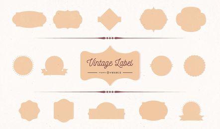 Quadros de rótulo vintage