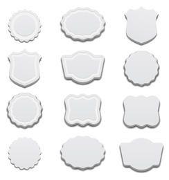 Etiquetas Branco 3D