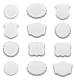 Weiße 3D-Etiketten