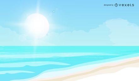 Vector praia de verão