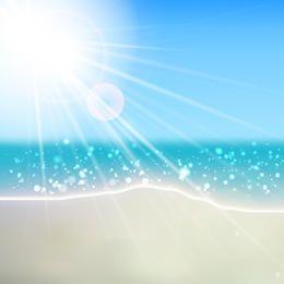 Vector de la playa del verano
