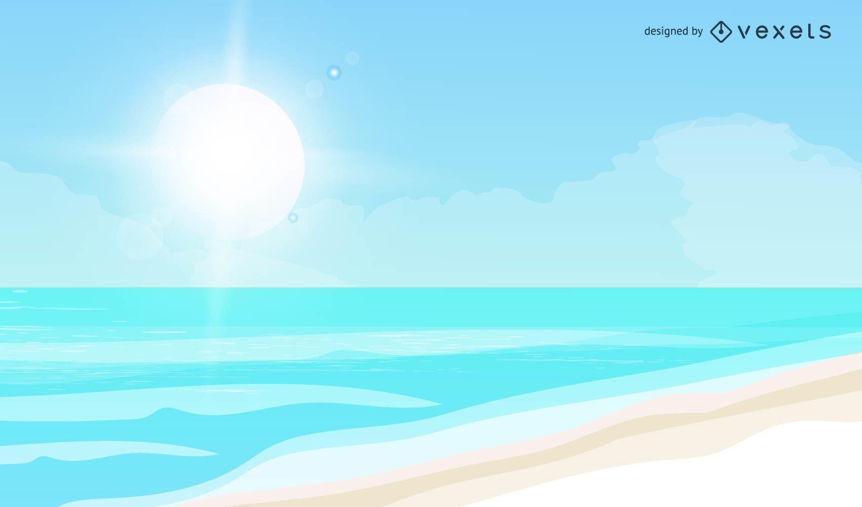 Vector verano playa