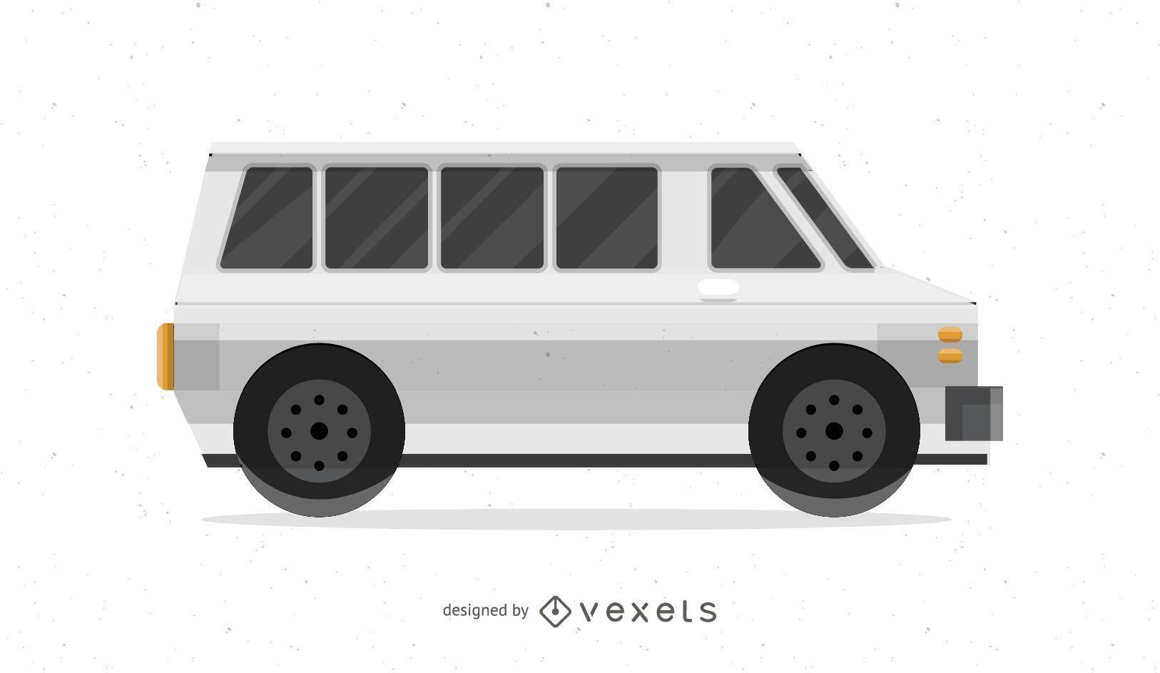 Vektor-Kleinbus