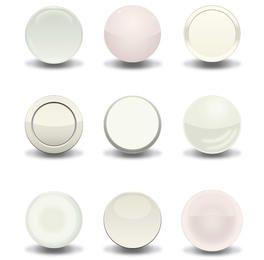 Blanco Vector Botones