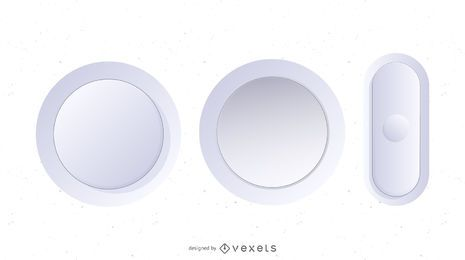 White Vector Buttons