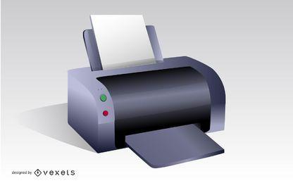 Ilustración vectorial de la impresora