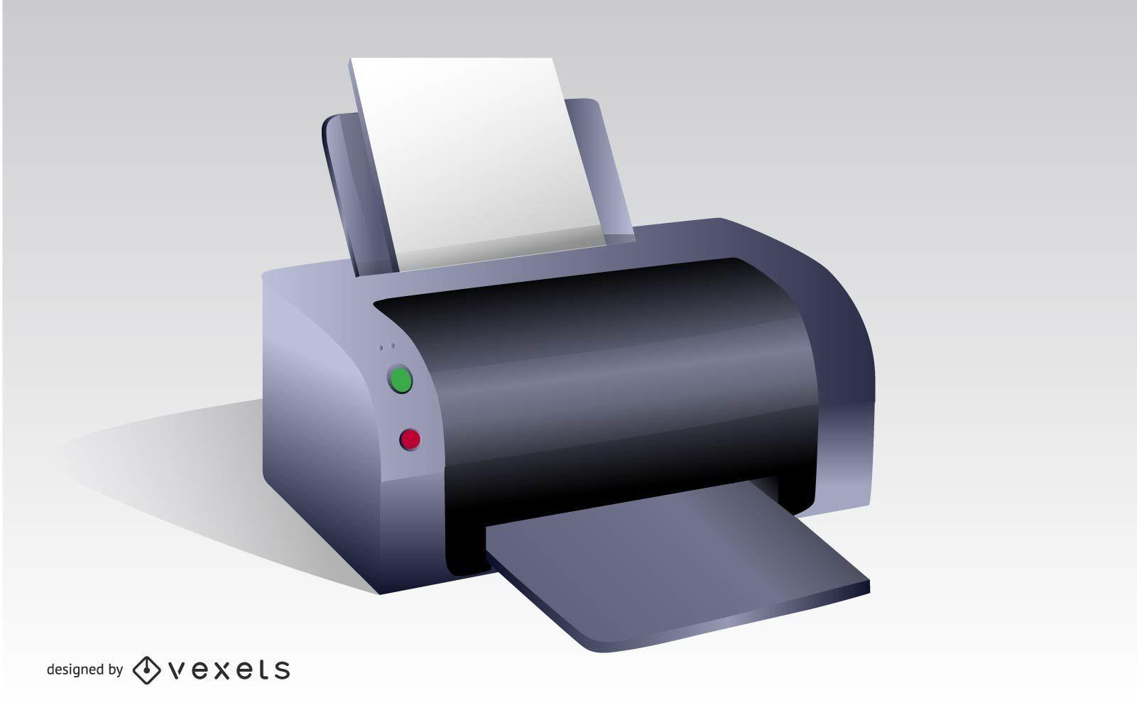 Vector de ilustración de impresora
