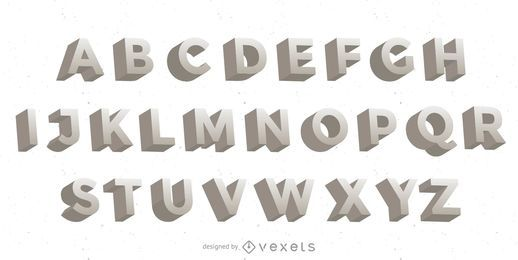 3D Vector Letters
