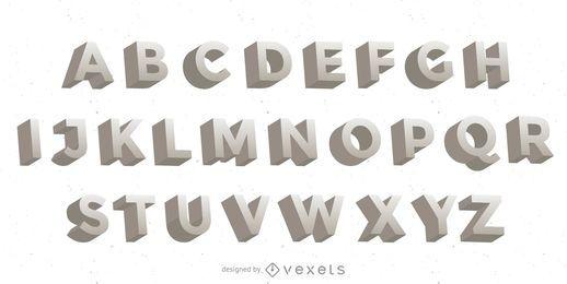 Letras do vetor 3D