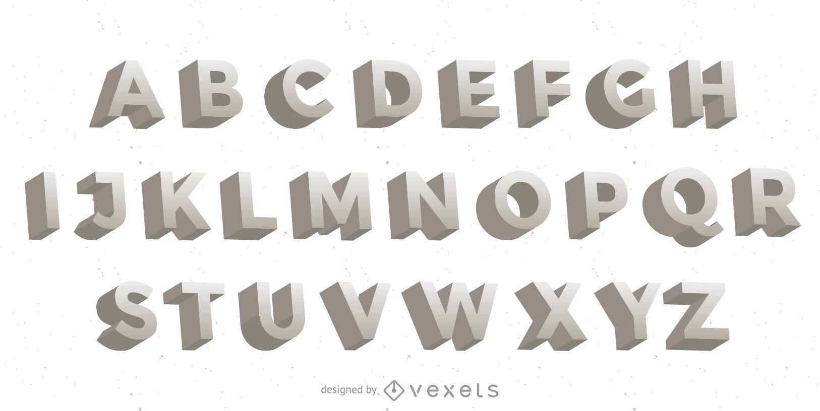 Letras de vetor 3D