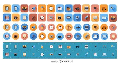 Conjunto de iconos plana 1