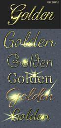 Estilos de texto dourado