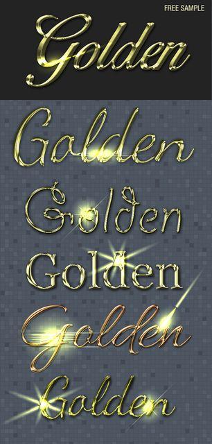Goldene Textstile