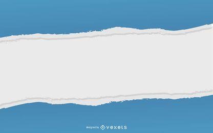 Marco de papel rasgado