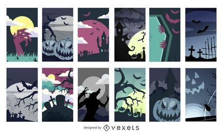 12 Halloween-Hintergründe
