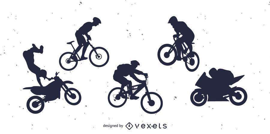 Fahrrad BMX und Motorrad
