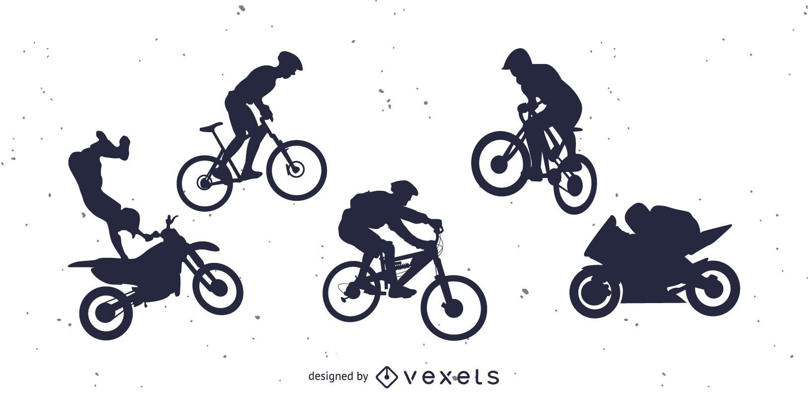 Bicicleta Bmx y Motocicleta