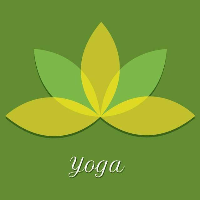 Flor de yoga mínima con hojas transparentes