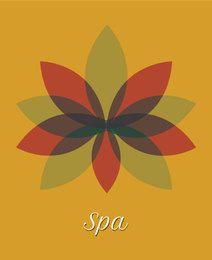 Spa flor multicolor hojas transparentes