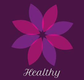 Logotipo de salud Flor abstracta
