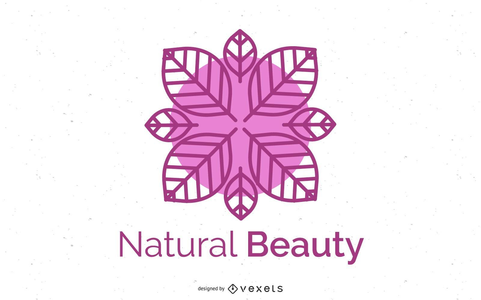 Salud Logo Flor abstracta
