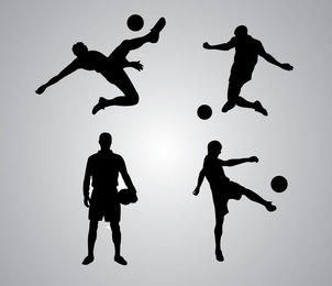 Pack de silueta de jugador de fútbol