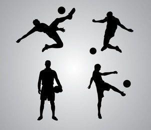 Paquete de silueta de jugador de fútbol