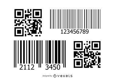 Paquete de códigos de barras y QR