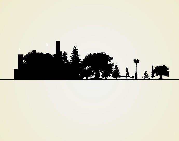 Paisaje urbano silueta del paisaje