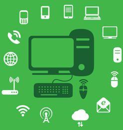 Infográfico de ícones de tecnologia