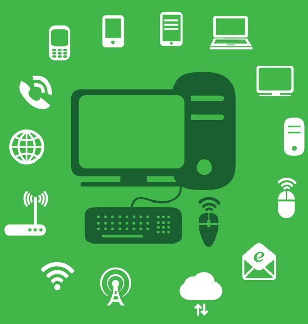 Infografía de iconos de tecnología