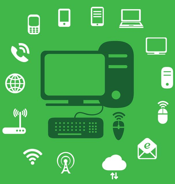 Technology Icons Infographic