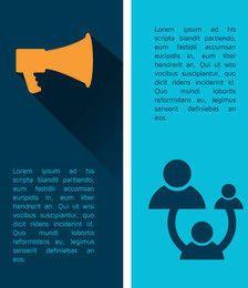 Folleto de infografía de negocios