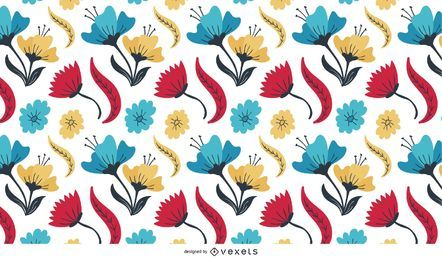 Flores multicolores abstractas
