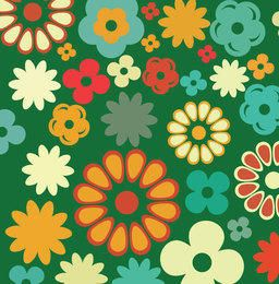 Abstract Multicolored Flowers
