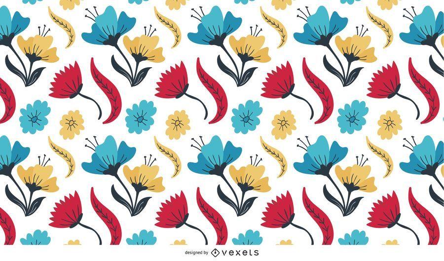 Flores multicoloridas abstratas