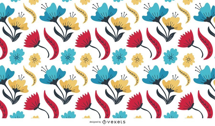Multicolored Flowers background