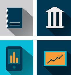 Minimalistische Business-Symbole