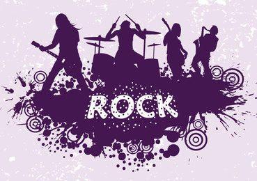 Silueta de la banda de rock