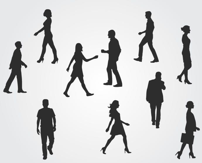 Corporate People Silhouettes