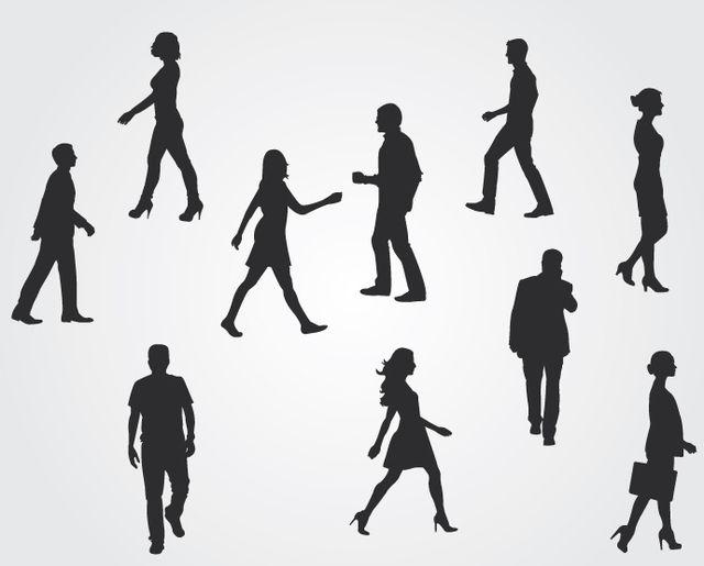 Siluetas de personas corporativas